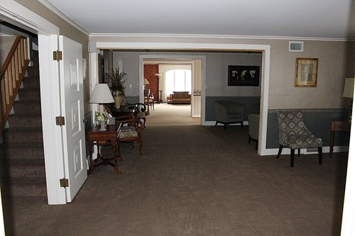 Hallway View of Laing Funeral Home Inc.