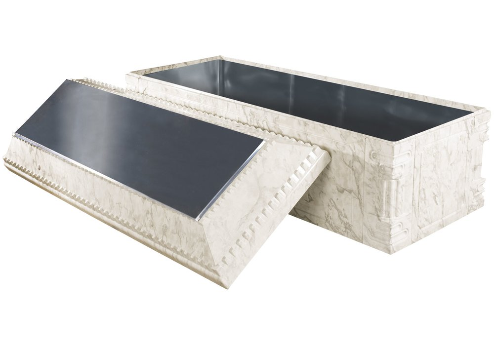 Elite-White Marble-Stainless Steel